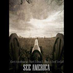 Gettysburg Canon, Gettysburg National Military Park by Bryan Bromstrup  #SeeAmerica