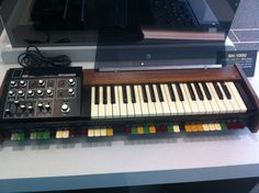 From 1973 comes the Roland SH-1000 - the first keyboard instrument ever produced by Roland and Japan's first synthesiser! It was designed to be a complete home organ and featured coloured preset selector tabs below the keyboard, with all the parameter controls bunched on the left-hand side of the instrument. #roland #rolandsh1000 #organ