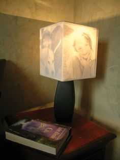 DIY: Family Photo Lamp Shade