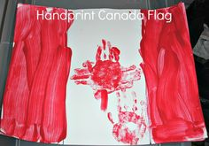2 Big, 2 Little: Simple Canada Day Flag Holiday Themes, Holiday Activities, Preschool Activities, Happy Birthday Canada, Happy Canada Day, Toddler Art, Toddler Crafts, Crafts For Kids, Canada Day Flag