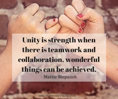 """Unity is strength... when there is teamwork and collaboration, wonderful things can be achieved."" Team Bonding - Corporate Team Building Event Specialists, Sydney, Australia. www.teambonding.com.au"