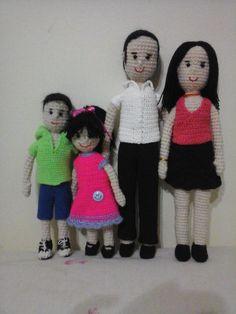 una familia amigurumi!!!!