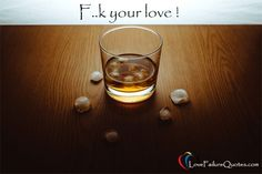 Glass of whisky with ice on a wooden kitchen table. Whisky Festival, Espresso, Love Failure Quotes, Alcoholic Drinks, Beverages, Luxury Brochure, Catering Menu, Wooden Kitchen, C'est Bon