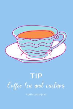 Koffie en gordijnen: Coffee Cake & Curtains | Koffiezettertje Tea, Coffee, Tableware, Cake, Kaffee, Dinnerware, Dishes, Mudpie, Teas