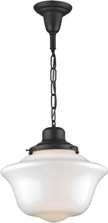 Love the styling of this school house style pendant lighting.   #countryliving #dreamporch
