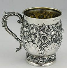 Tiffany sterling child's cup dated 1887.