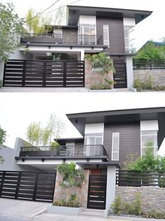 Modern House Design For People Who Have A Taste For The Minimalism Style . - Modern House Design For People Who Have A Taste For The Minimalism Style Design facade Moder - 3 Storey House Design, House Gate Design, Duplex House Design, House Front Design, Kerala House Design, Plans Architecture, Modern Architecture House, Architecture Design, Amazing Architecture