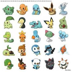 Starter Pokemon and then some in the begging were they ask you to choose one.....hardest choice of my childhood