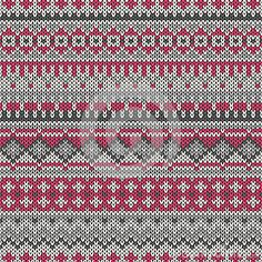 Seamless knitted pattern in traditional Fair Isle style. EPS available