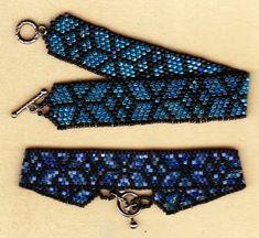 Sandra D Halpenny - Free Bead Patterns and Ideas : Stained Glass Bracelet - Free Pattern