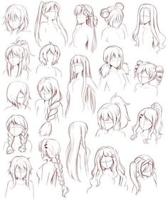 How to Draw Manga/Anime Grundlagen Weibliche Frisuren, Text; Pelo Anime, Manga Anime, Male Base, Character Design References, Character Art, Anime Girl Hairstyles, Drawing Hairstyles, Female Hairstyles, Woman Hairstyles