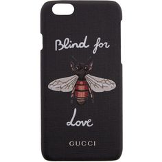 Gucci Black Bee iPhone 6 Case found on Polyvore featuring accessories, tech accessories, phone, black and gucci