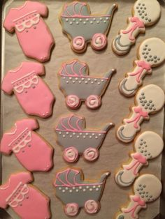 Sugar cookies for a baby shower