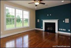deep blue wall livingroom - Google Search
