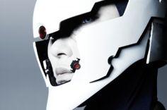 cyberpunk, future, cyborg ninja cosplay, futuristic, helmet, cyborg, white, cyber mask, robot, concept, digital art, sci-fi, science fiction by FuturisticNews.com