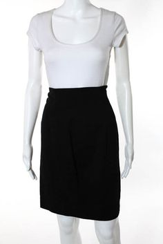 f5ca74eee2 Badgley Mischka Black Wool Straight Pencil Skirt Size 10 #fashion #clothing  #shoes #