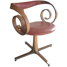 View this item and discover similar for sale at - Nice and rare swivel desk chair designed by Mulhauser . Modern Furniture, Furniture Design, Live In Style, Settee Sofa, Desk Chairs, Office Chairs, Swivel Chair, Chair Design, Accent Chairs