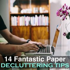 14 Fantastic Paper Decluttering Tips Getting Organized At Home, Getting Rid Of Clutter, Office Organization At Work, Paper Organization, Paperwork Organization, Office Fun, Room Cleaning Tips, Cleaning Hacks, Housekeeping Tips