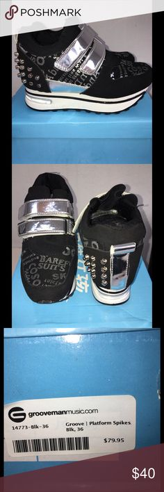 Platform Sneakers Grove Platform Spike Sneakers Size 6. Like New with Box Hongzao Shoes Sneakers