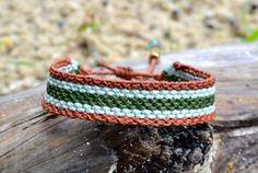 Rumi Sumaq Macrame Bracelet with Stripes by Designer Coco Paniora Salinas