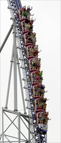 Millenium Force  (Trust me, i was not one of the ones with their hands up, but my sister sure was!)