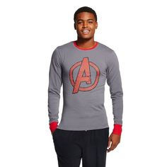 Marvel Avengers Cool Johns Long Underwear M 32 34 Small NEW Lounge Sleep Shirt #Bioworld #Nightshirt