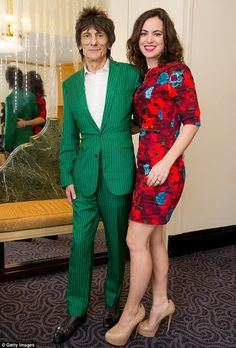 Happy couple: The Rolling Stones rocker tied the knot with the striking brunette back in December 2012 Ronnie Wood Art, The Roling Stones, Rolling Stones Keith Richards, David Wood, Ron Woods, Stone World, Nude Portrait, Mick Jagger, Some Girls