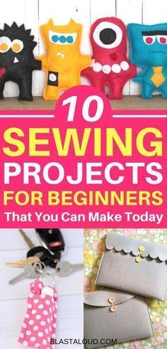 A great list of sewing projects that any beginner can make. Make these beginner sewing projects and sell them online or give them as gifts! #sewing #sewingprojects #sew #sewingcrafts #diy