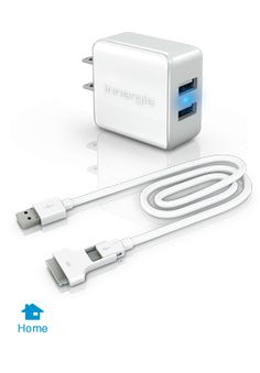 Duo USB Charging Kit for iPads, iPhones, and Smartphones, iPods and MP3 players, eBooks, GPS units and more #gadget #energy #charger $25