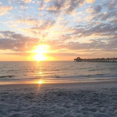 Sunset off Naples Pier.  Photo by IG user chantark