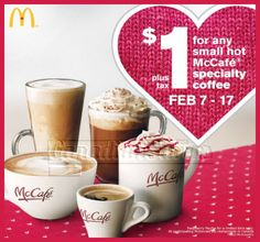 McDonald's Canada Deals: $1 for Any Small McCafé Coffee!