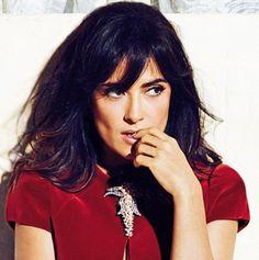 Salma Hayek in a red dress
