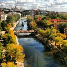 Manzanares river in Madrid  Photo by tordelroque