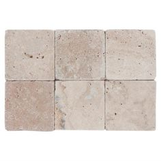 Country Beige Tumbled Travertine Tile - 4in. x 4in. - 100089986 | Floor and Decor