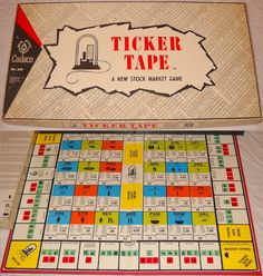 Vintage Games, Vintage Toys, Bored Games, Stock Market, Marketing, Findlay Ohio, Archive, Antiques, Collectible Toys