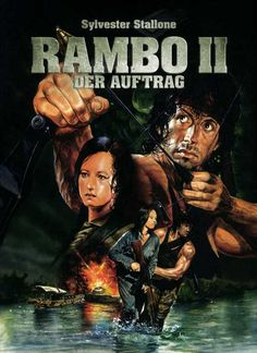 Rambo: First Blood (German) 27x40 Movie Poster (1982)