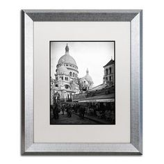"Trademark Art ""Sacre-Coeur de Montmartre"" by Philippe Hugonnard Framed Photographic Print Size: 14"" H x 11"" W x 0.5"" D"