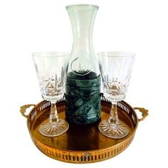 Check out this item at One Kings Lane! Wine Set w/ Waterford Glasses, 4 Pcs