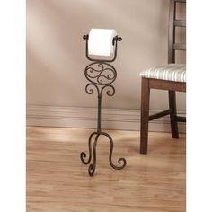 Iron Metal Standing TOILET PAPER Holder Tissue Floor Stand Rack Bathroom Decor | Home & Garden, Home Improvement, Plumbing & Fixtures | eBay!