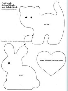 simple rabbit pattern | believe these patterns came out of one of Sandra Lounsbury Foose's ...