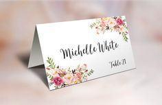 Wedding Place Cards BLANK Place Cards Escort by TheSunshineGarden