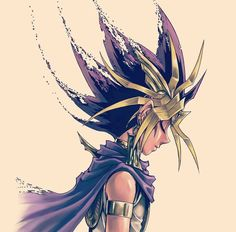 armlet atem blonde hair cape dark skin dark skinned male dissolving earrings eyes closed forehead protector jewelry male focus multicolored hair sepia background simple background sleeveless solo spiked hair takahashi kazuki upper body yu-gi-oh! Fanarts Anime, Anime Characters, Chica Anime Manga, Anime Art, Anime Love, Anime Guys, Atem Yugioh, Mago Anime, Yu Gi Oh Zexal