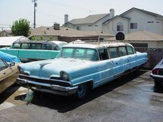 1956 Lincoln limousines used by the Disneyland Hotel. These cars have now been saved.
