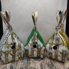 Elfjes Boom Glow-in-the-dark Vogelhuistas Sockhouse maat, Birdhouse Bag Vogelhuis Breitas/projecttas by FiberRachel on Etsy Roof Colors, Yarn Bowl, Secondary Color, Knitted Bags, Knit Or Crochet, Birdhouse, The Darkest, My Design, Glow