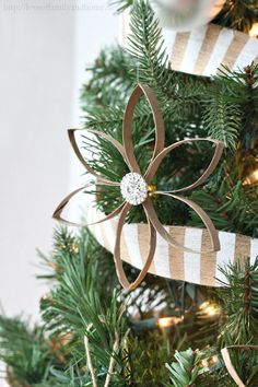 DIY Christmas Ornaments from toilet paper rolls