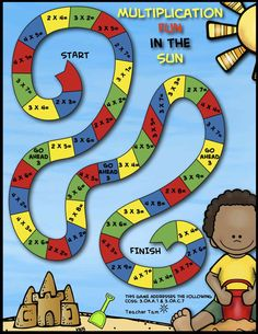 FREE! Math Game Boards (FREE!) for Addition, Subtraction, and Multiplication. Your students will enjoy practicing their math facts with these colorful, engaging games! The set includes 5 games: multiplication (2, 3, and 4), addition (with sums less than 10), subtraction (minuends of 10 or less), adding 10 to two-digit numbers, and subtracting 10 from two-digit numbers. The game boards come in full color as well as an ink-saving option. Free Math Games, Kindergarten Math Games, Math Activities, Maths, Subtraction Games, Addition And Subtraction, Multiplication And Division, 5th Grade Math, Third Grade