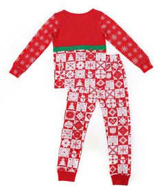 Jelly The Pug Holiday Leslie Sleepwear Top & Bottoms -  Girls Size:4 #JellythePug #PajamaSet