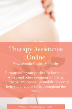 'Resources in your pocket for low mood, worry and other common concerns. Interactive exercises to a mobile device to help you practice skills throughout the week.' - by the Nova Scotia Health Authority. #nsha #novascotia #novascotiahealthauthority #therapy #covidanxiety #depression #therapyapp #digitaltherapy #lowmood #pregnancy #pregnant Low Mood, Mental Health Resources, Online Library, Nova Scotia, Life Skills, Tao, No Worries, Things That Bounce, Depression