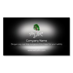 Monogram, Leafy Green Tree, metallic-effect Business Card Templates. Make your own business card with this great design. All you need is to add your info to this template. Click the image to try it out!