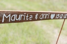 rustic wedding sign.  Have it say Josh and Heather  and have a arrow